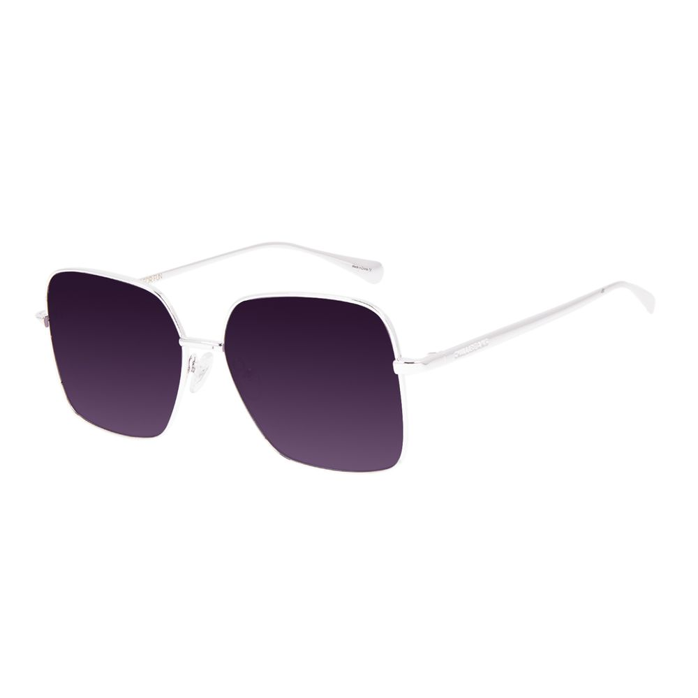 Óculos de Sol Feminino Chilli Beans Quadrado Prata OC.MT.3067-2007