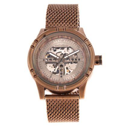 Relógio Automático Masculino Motor Club Metal Vintage Bege RE.MT.0858-2323