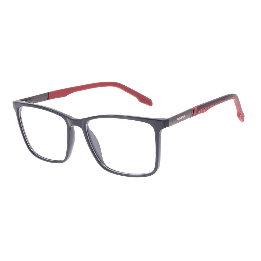 Armação Para Óculos de Grau Masculino Chilli Beans Quadrado Vermelho LV.IJ.0234-0116