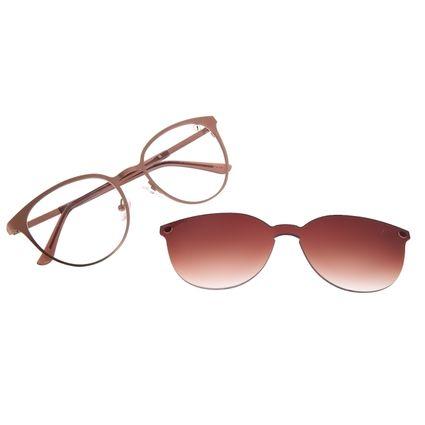 Armação Para Óculos de Grau Feminino Chilli Beans Multi Essential Metal Bege LV.MU.0429-5723