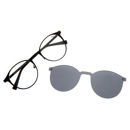 Armação Para Óculos de Grau Unissex Chilli Beans Multi Redondo Preto LV.MU.0539-0101