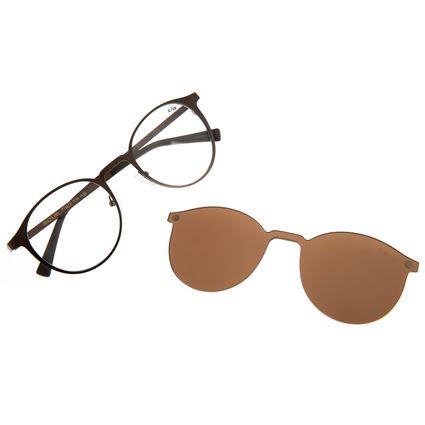 Armação Para Óculos de Grau Unissex Chilli Beans Multi Redondo Marrom LV.MU.0539-0202