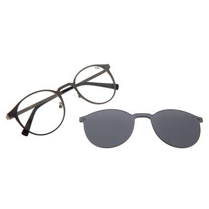 Armação Para Óculos de Grau Unissex Chilli Beans Multi Redondo Ônix LV.MU.0539-0522