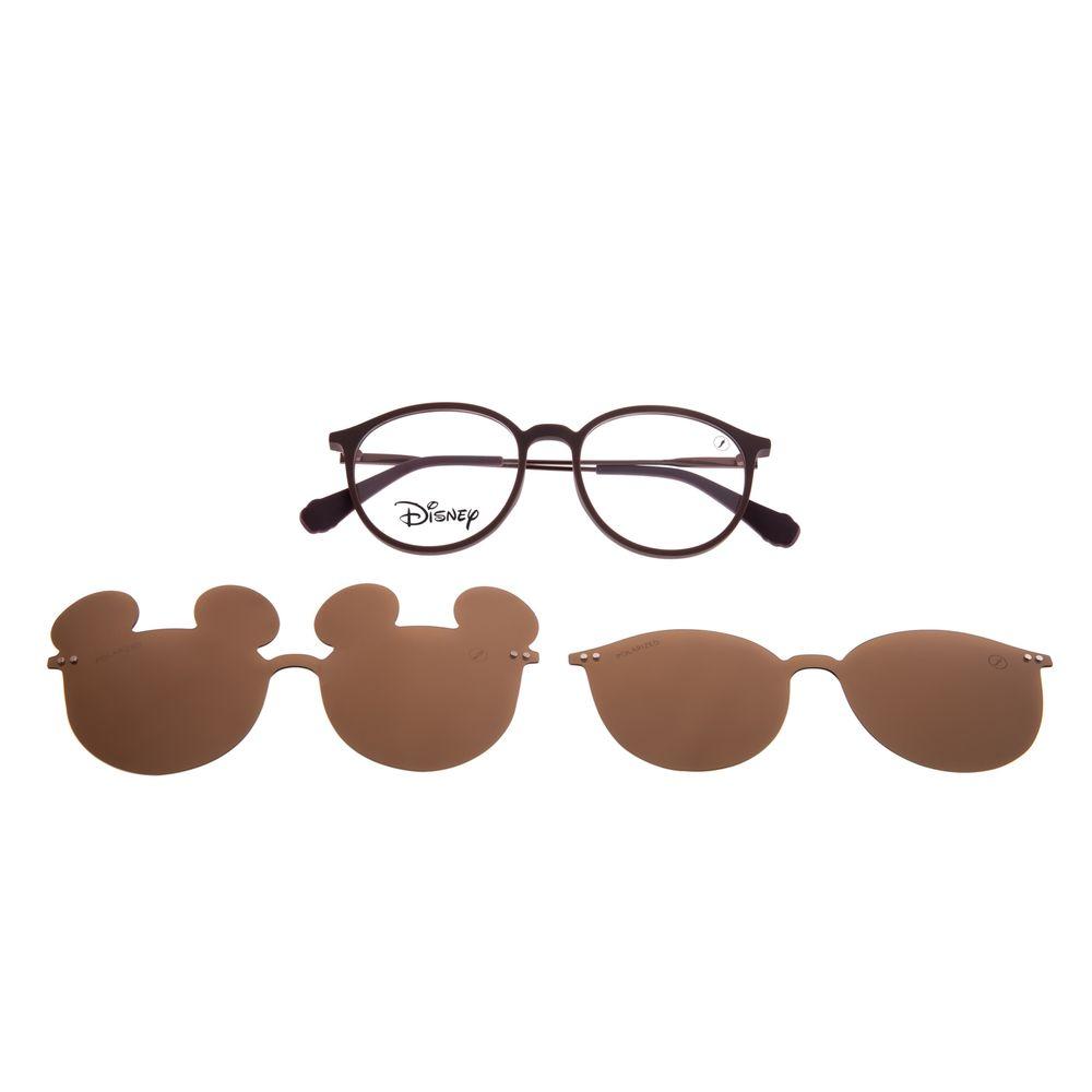 Armação Para Óculos de Grau Unissex Disney Mickey Mouse Multi Marrom Polarizado LV.MU.0542-0202