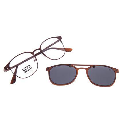 Armação Para Óculos de Grau Masculino Beer Multi Polarizado Marrom LV.MU.0576-0102