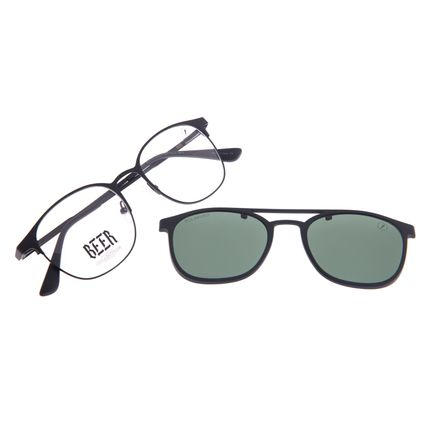 Armação Para Óculos de Grau Masculino Beer Multi Polarizado Preto LV.MU.0576-1501