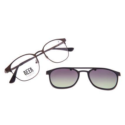 Armação Para Óculos de Grau Masculino Beer Multi Polarizado Degradê Marrom LV.MU.0576-5702