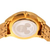 Relógio Analógico Masculino Disney Mickey Mouse Mãozinha Metal Dourado RE.MT.1189-0121.7