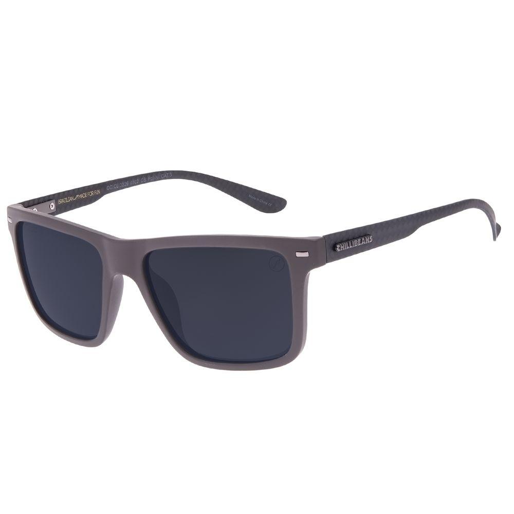 Óculos de Sol Masculino Chilli Beans Bossa Nova Polarizado Fosco Marrom Escuro OC.CL.3229-0102