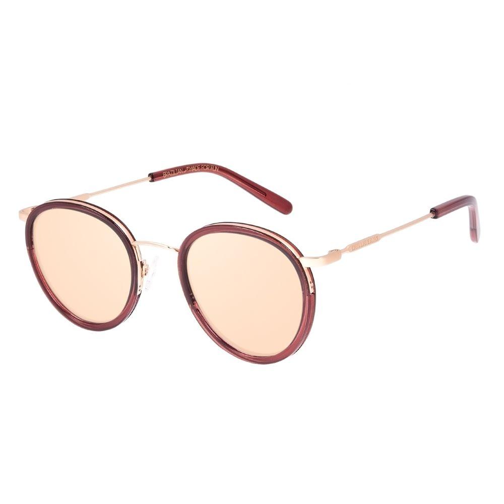 Óculos de Sol Unissex Chilli Beans Redondo Fashion Vermelho OC.CL.3236-0216