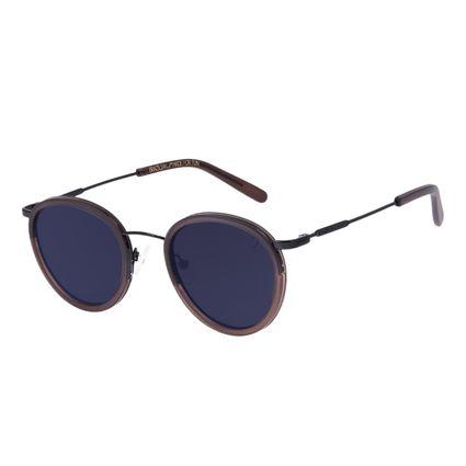 Óculos de Sol Unissex Chilli Beans Redondo Fashion Preto OC.CL.3236-0501
