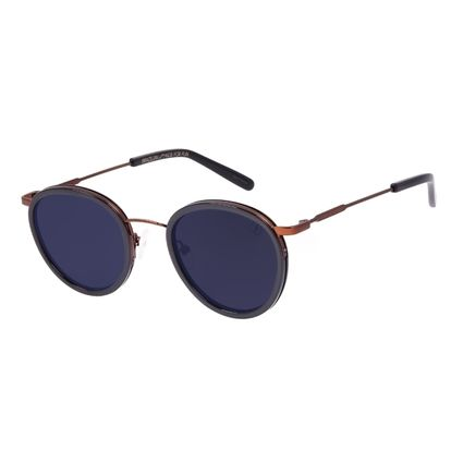 Óculos de Sol Unissex Chilli Beans Redondo Fashion Fumê OC.CL.3236-0502