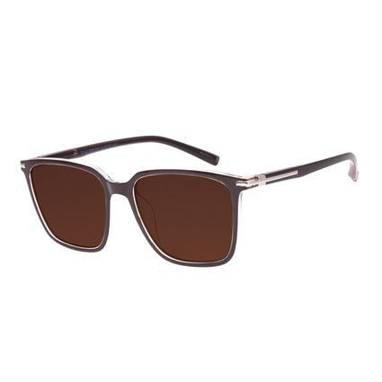 Óculos de Sol Feminino Disney Minnie Mouse Maxi Quadrado Prata OC.CL.3296-0207