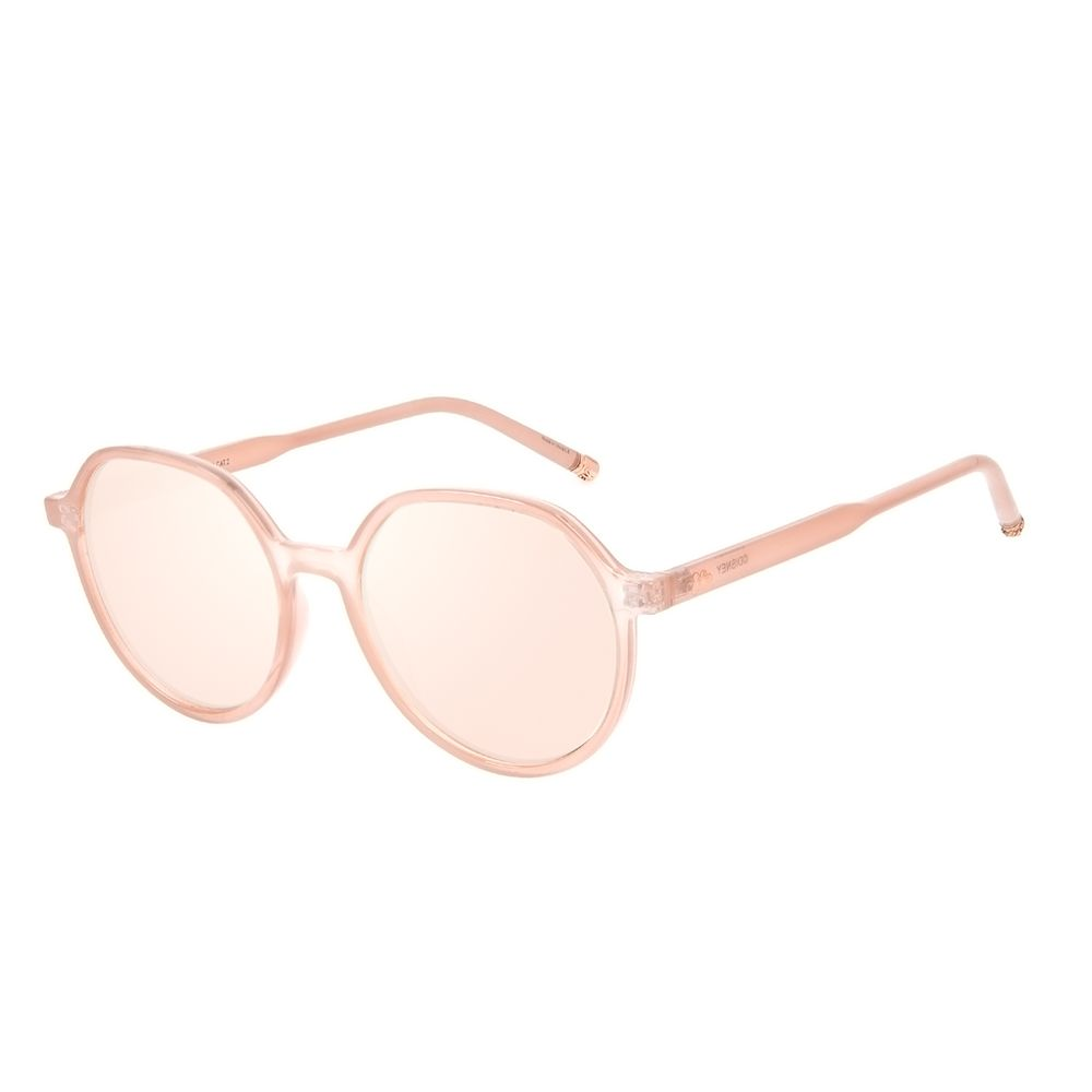 Óculos de Sol Feminino Disney Minnie e Mickey Mouse Redondo Bege OC.CL.3309-2323