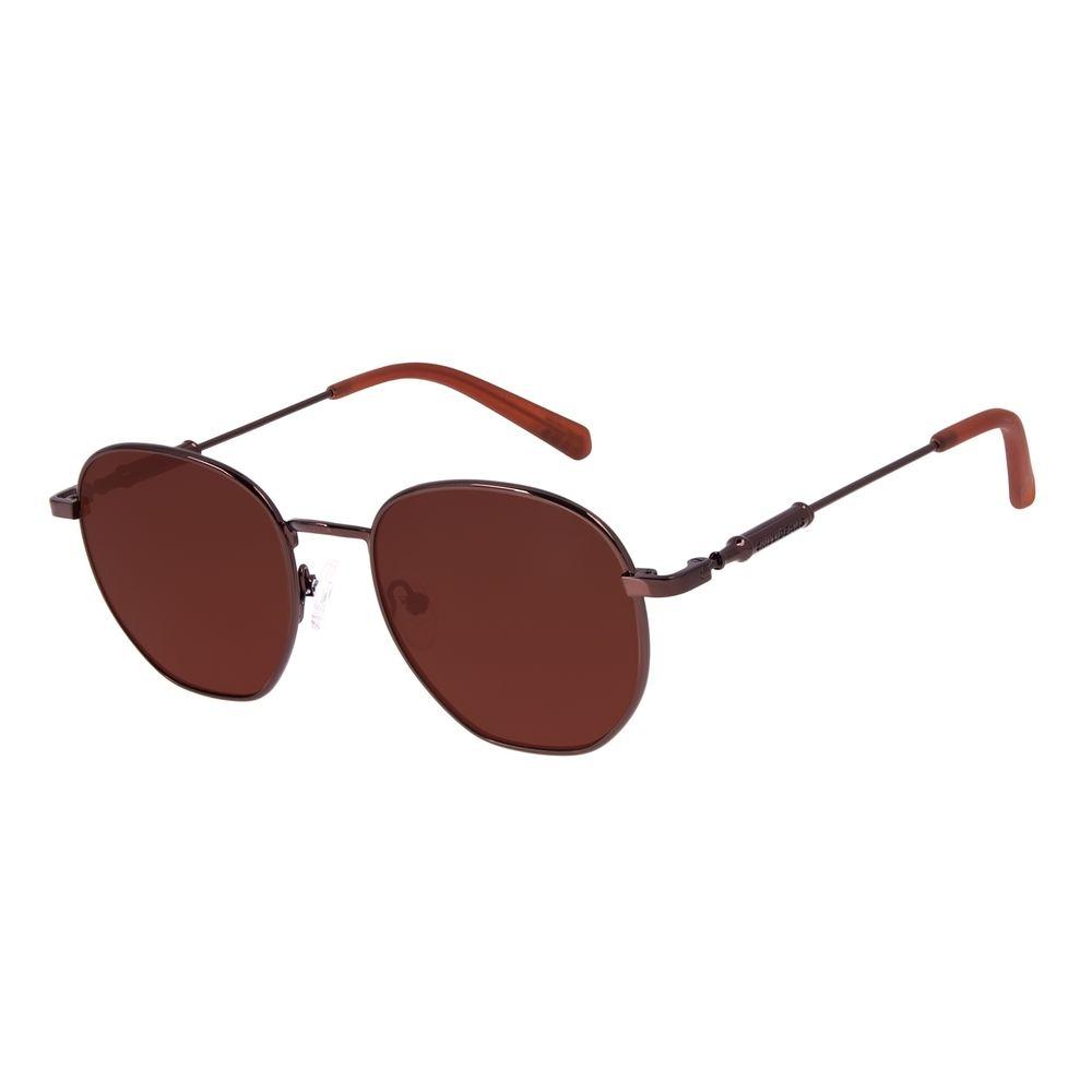 Óculos de Sol Unissex Beer Redondo Marrom OC.MT.3121-0202