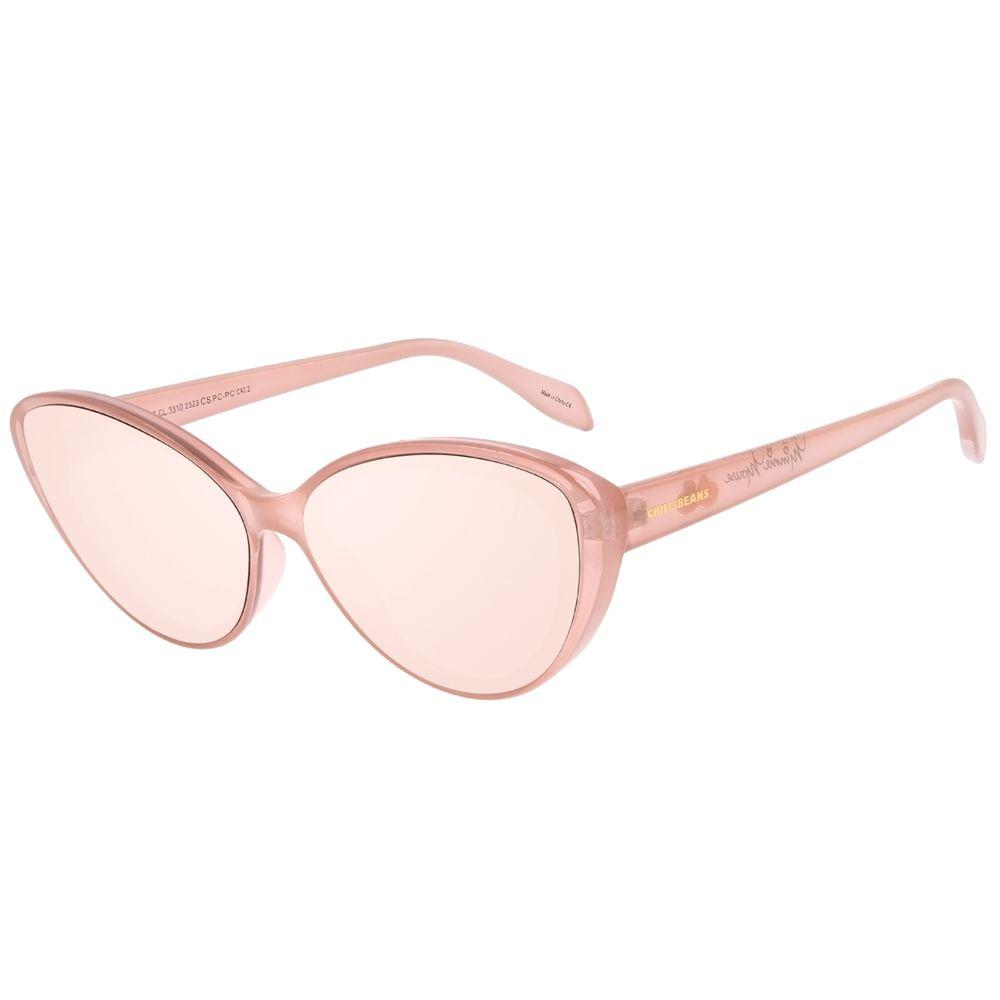 Óculos de Sol Feminino Disney Minnie Mouse Gatinho Bege OC.CL.3310-2323