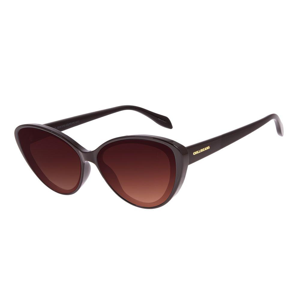 Óculos de Sol Feminino Disney Minnie Mouse Gatinho Marrom OC.CL.3310-5702