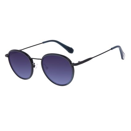 Óculos de Sol Unissex Disney Mickey Mouse Redondo Preto OC.CL.3312-8301