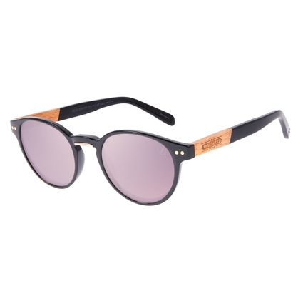 Óculos de Sol Unissex Beer Redondo Wood Degradê Marrom OC.CL.3314-5701