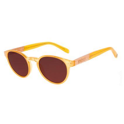 Óculos de Sol Unissex Beer Redondo Wood Caramelo OC.CL.3314-0203