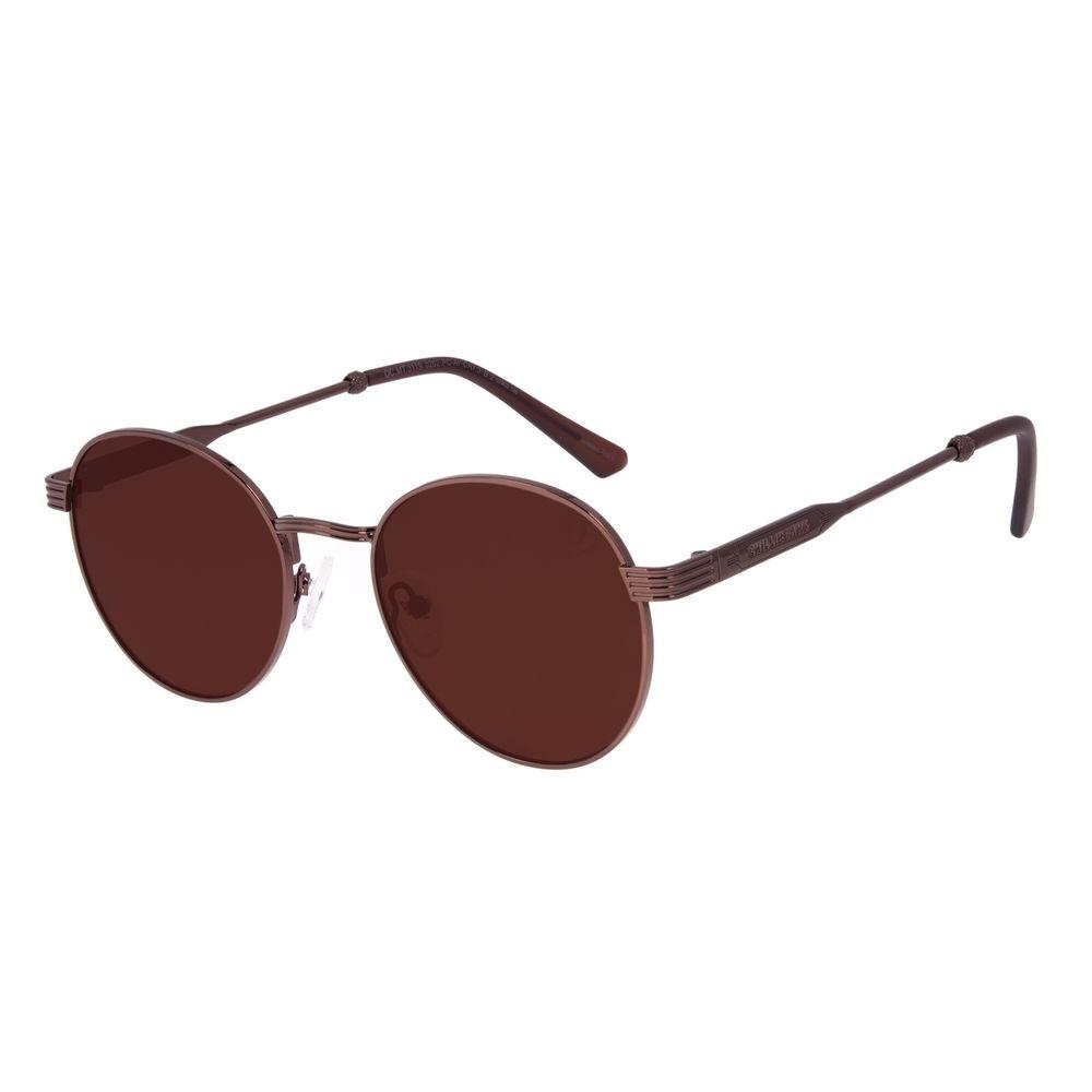 Óculos de Sol Unissex Beer Redondo Marrom OC.MT.3119-0202