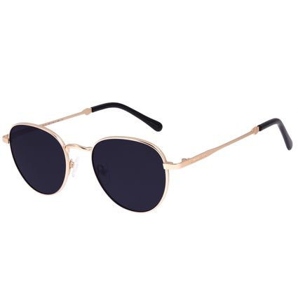 Óculos de Sol Unissex Disney Mickey Mouse Redondo Dourado OC.MT.3114-0121
