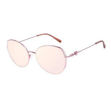 Óculos de Sol Feminino Disney Mickey Mouse Redondo Rosé OC.MT.3116-9595