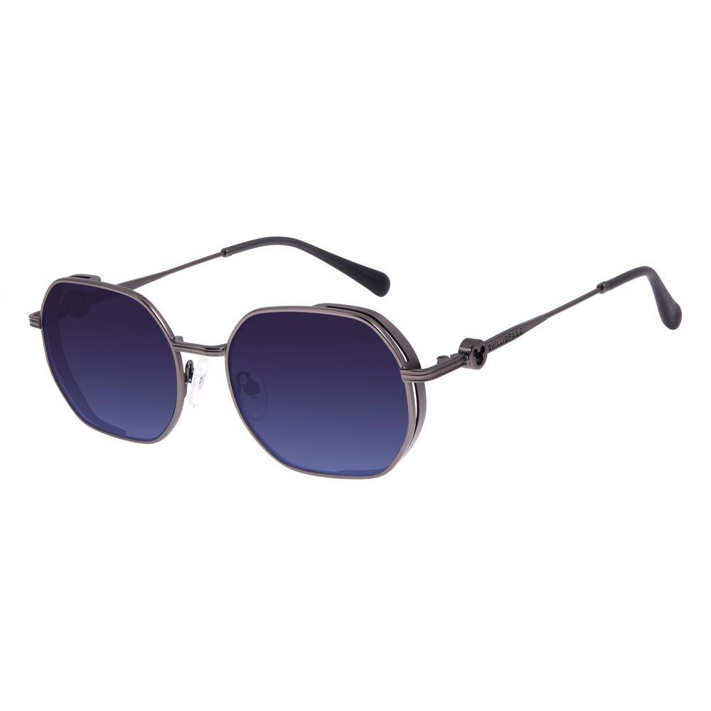 Óculos de Sol Unissex Disney Mickey Mouse Octogonal Flap Ônix OC.MT.3118-8322
