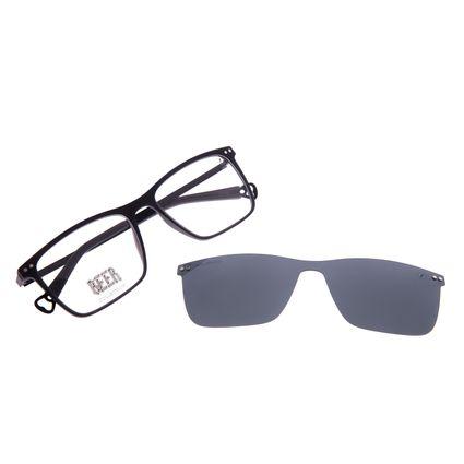 Armação Para Óculos de Grau Masculino Beer Quadrado Multi Polarizado Preto LV.MU.0577-0101