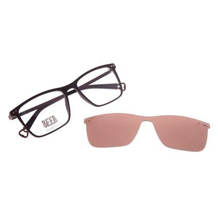 Armação Para Óculos de Grau Masculino Beer Quadrado Multi Polarizado Marrom LV.MU.0577-0202