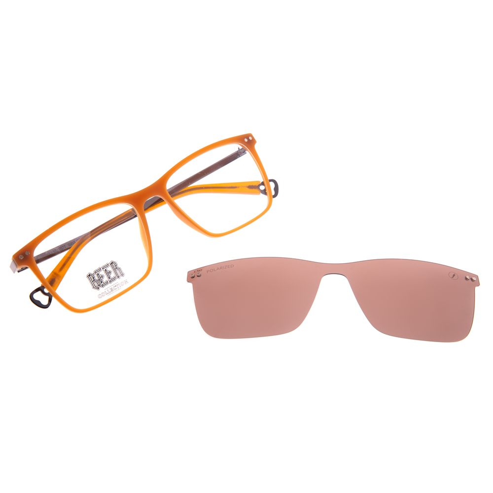 Armação Para Óculos de Grau Masculino Beer Quadrado Multi Polarizado Caramelo LV.MU.0577-0203