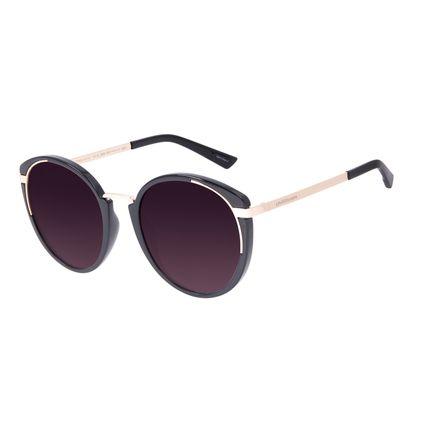 Óculos de Sol Feminino Chilli Beans Redondo Fashion Preto OC.CL.3069-2001