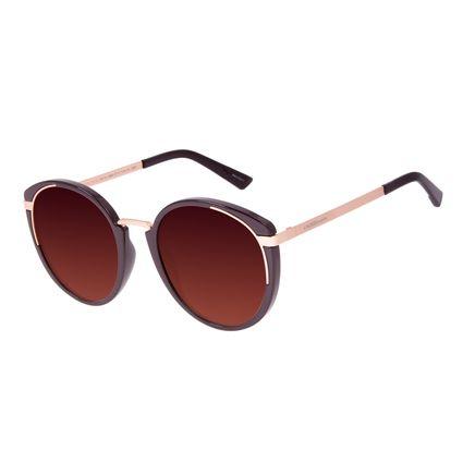 Óculos de Sol Feminino Chilli Beans Redondo Fashion Vinho OC.CL.3069-5717