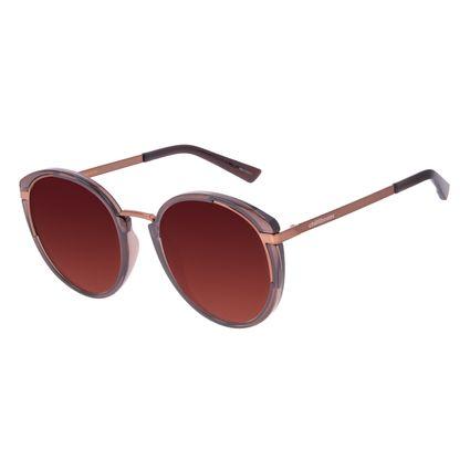 Óculos de Sol Feminino Chilli Beans Redondo Fashion Marrom OC.CL.3069-5702