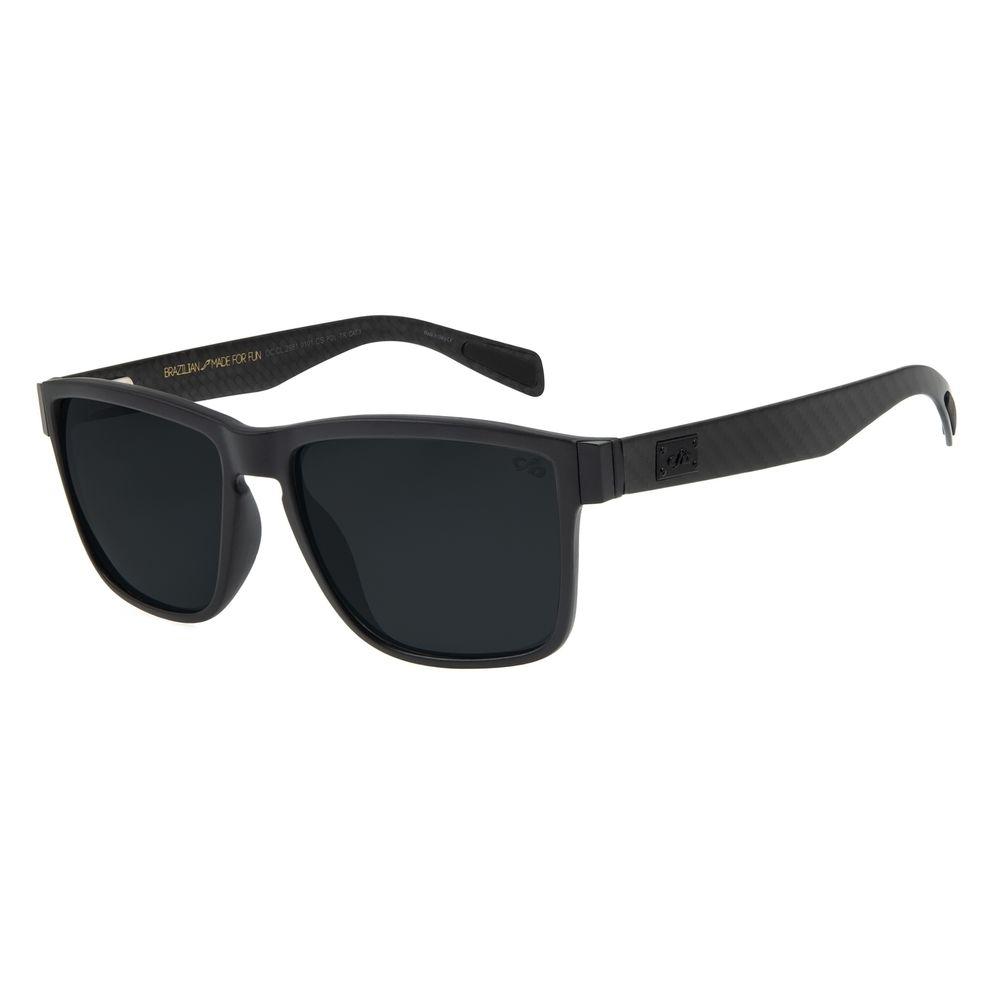Óculos de Sol Masculino Chilli Beans Essential Quadrado Polarizado Preto OC.CL.3250-0101