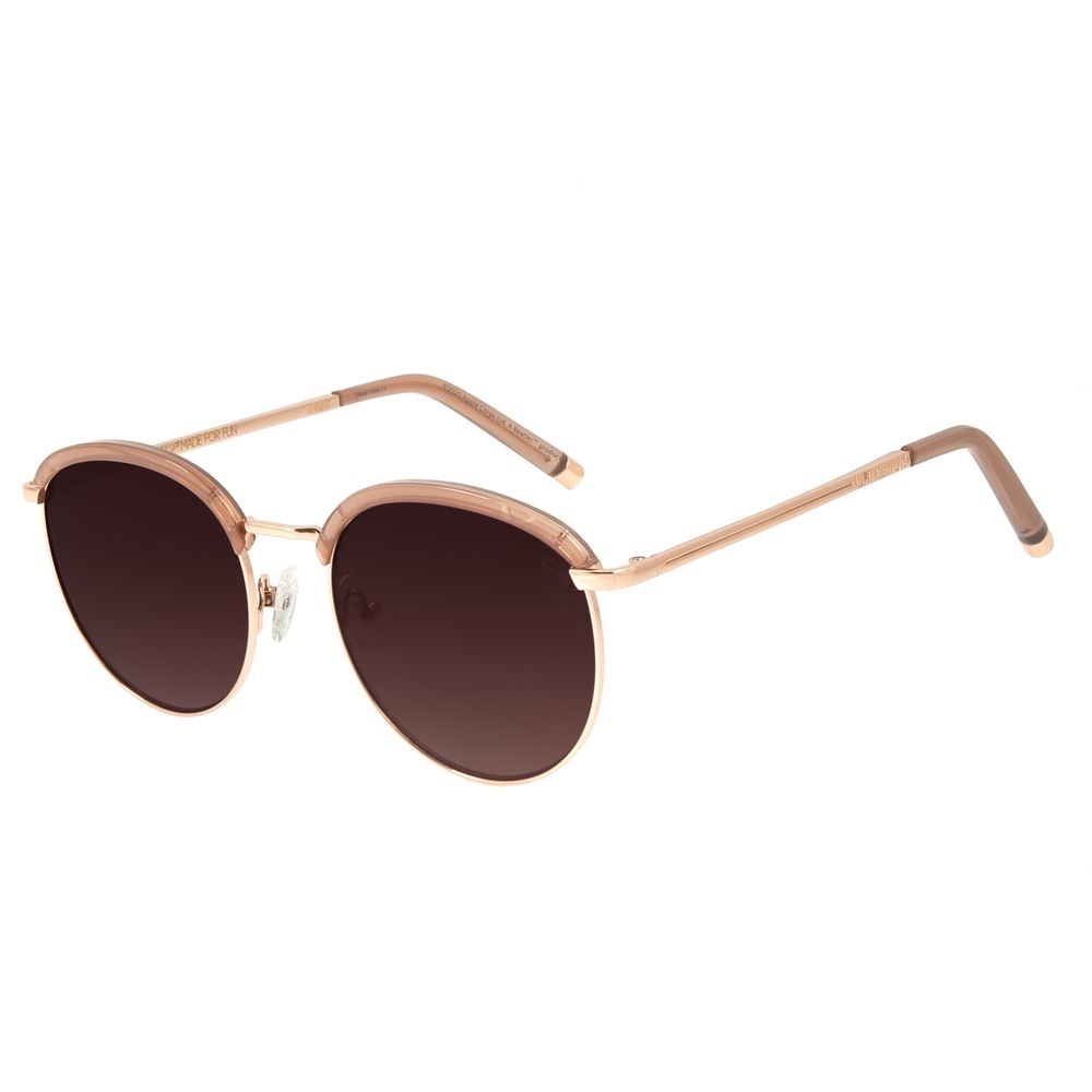 Óculos de Sol Feminino Chilli Beans Banhado a Ouro Redondo Rosé OC.CL.3264-5795