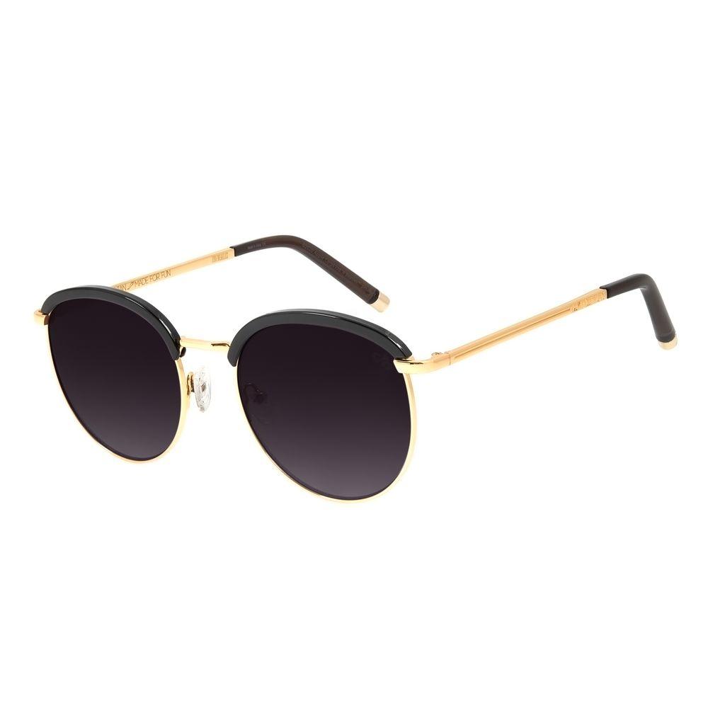 Óculos de Sol Feminino Chilli Beans Banhado a Ouro Redondo Dourado OC.CL.3264-2021