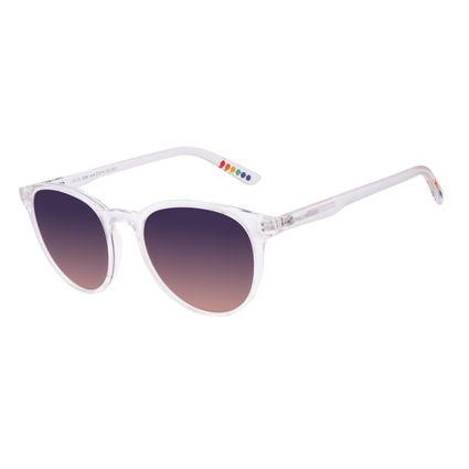Óculos de Sol Unissex Chilli Beans True Colors Redondo Cristal Transparente OC.CL.3294-1436