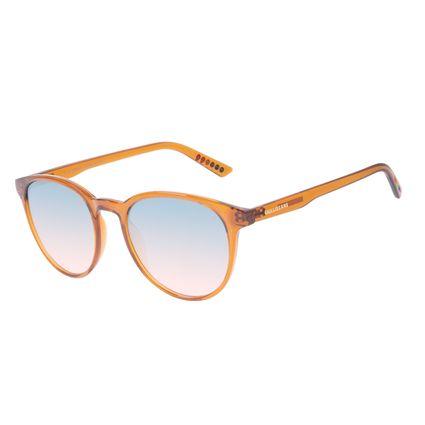 Óculos de Sol Unissex Chilli Beans True Colors Redondo Cristal Laranja OC.CL.3294-8311