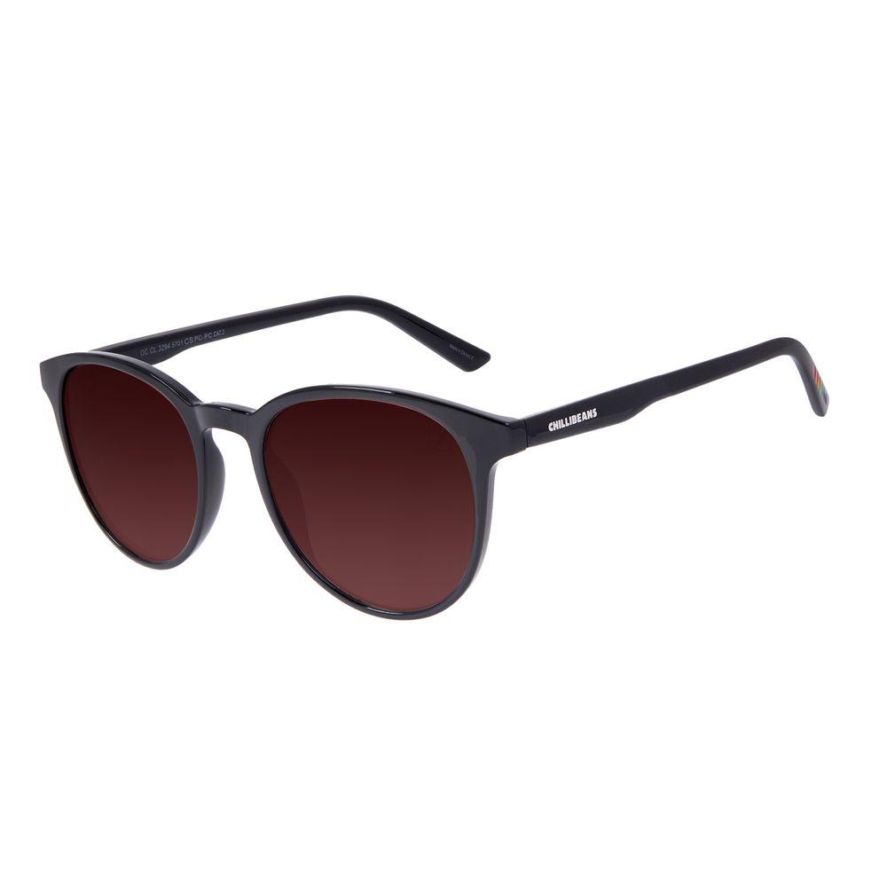 Óculos de Sol Unissex Chilli Beans True Colors Redondo Cristal Degradê OC.CL.3294-5701