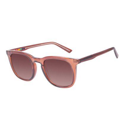 Óculos de Sol Unissex Chilli Beans True Colors Quadrado Brilho Marrom OC.CL.3295-5702