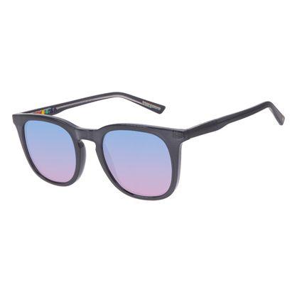 Óculos de Sol Unissex Chilli Beans True Colors Quadrado Brilho Transparente OC.CL.3295-8336