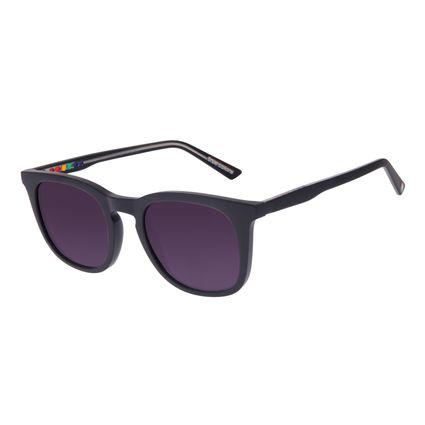 Óculos de Sol Unissex Chilli Beans True Colors Quadrado Brilho Preto OC.CL.3295-2001