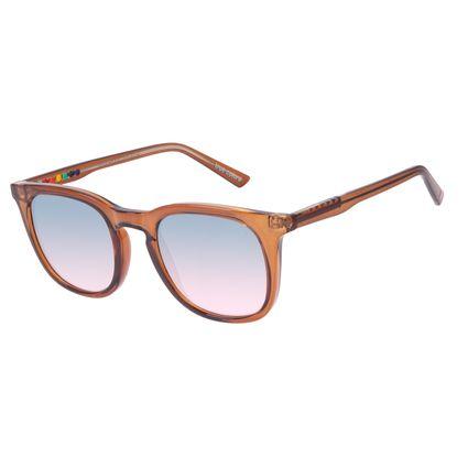 Óculos de Sol Unissex Chilli Beans True Colors Quadrado Brilho Caramelo OC.CL.3295-8303
