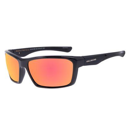 Óculos de Sol Masculino Chilli Beans Performance Polarizado Marrom Espelhado OC.ES.1259-0201