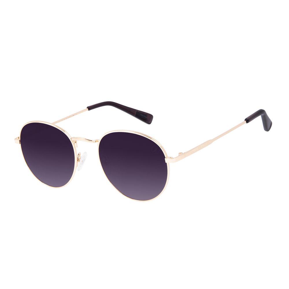 Óculos de Sol Unissex Chilli Beans True Colors Redondo Metal Dourado OC.MT.3104-2021