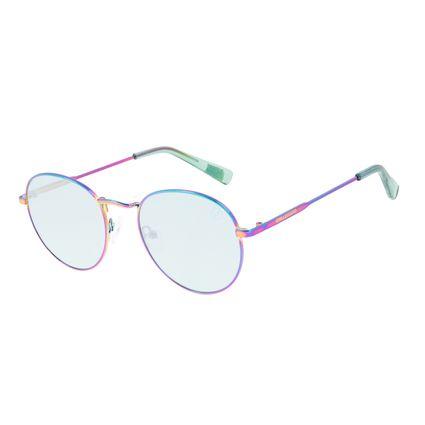Óculos de Sol Unissex Chilli Beans True Colors Redondo Metal Iridescente OC.MT.3104-1540