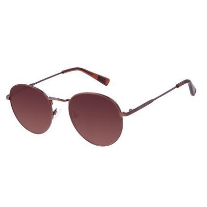 Óculos de Sol Unissex Chilli Beans True Colors Redondo Metal Marrom OC.MT.3104-5702