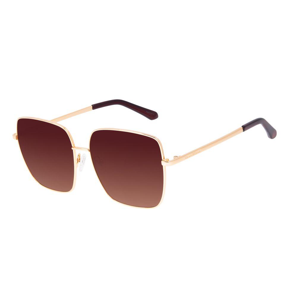 Óculos de Sol Feminino Chilli Beans Quadrado Banhado A Ouro Degradê Marrom OC.MT.3127-5721