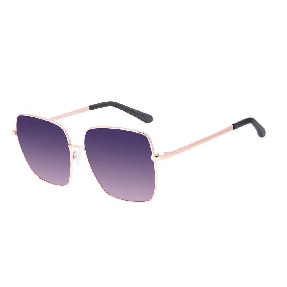 Óculos de Sol Feminino Chilli Beans Quadrado Banhado A Ouro Dourado OC.MT.3127-2021